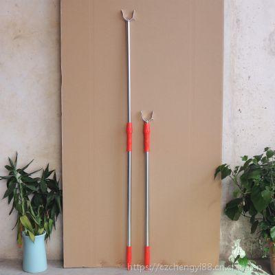 厂家特价供应耐用长1.3米加厚不锈钢伸缩衣叉 可伸缩晾衣叉撑衣杆