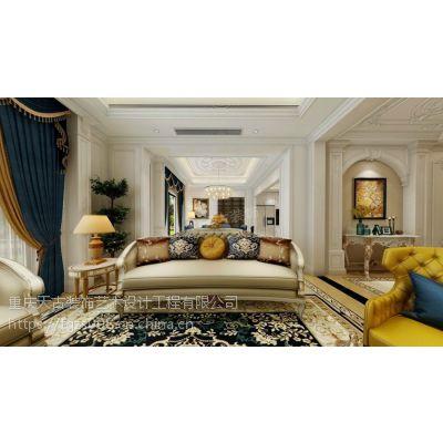 融创玫瑰园装修|天古装饰设计师李润强作品|法式风格|重庆独栋别墅装修设计