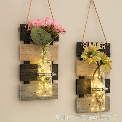 墙面上创意装饰壁挂水培花瓶家居餐厅房间客厅墙壁挂件卧室挂饰品