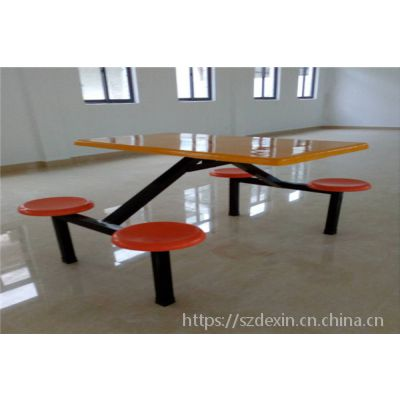 简约现代型学校食堂餐桌厂家直销_工厂饭堂餐桌价格