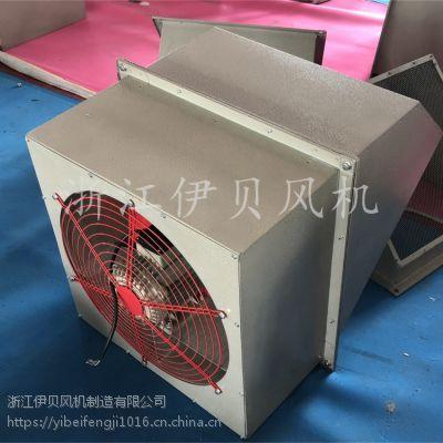 WEX边墙风机方型防腐壁式轴流排风机380v方形防爆墙壁送风机