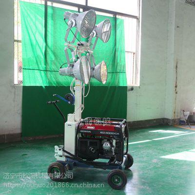 野外施工作业专用便捷式自升降工程照明车 应急照明车