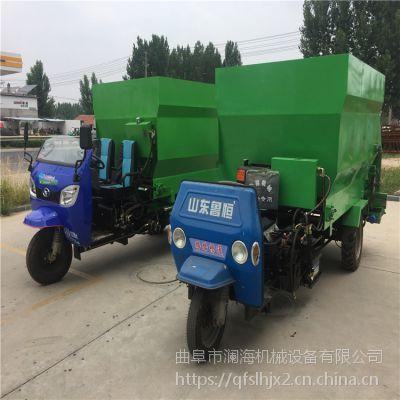 高效大型养殖场撒料车 电动柴油两用自动喂料车
