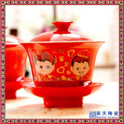 茶具盖碗单品 盖碗茶具整套 八宝盖碗茶具 手绘盖碗茶具