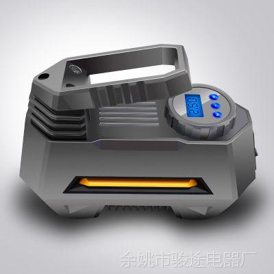 邓禄普车载充气泵金属迷你便携式大功率数显带灯22缸多功能充气泵
