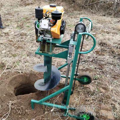 双人汽油框架挖坑机 启航绿化植树打眼机 厂家直销植树挖坑机