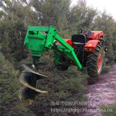 汽油四冲程植树造林挖坑机 青岛单人操作地钻机 启航挖坑机品牌