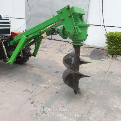 立柱挖坑机 多功能拖拉机带植树挖坑机 旋转式农用打坑机