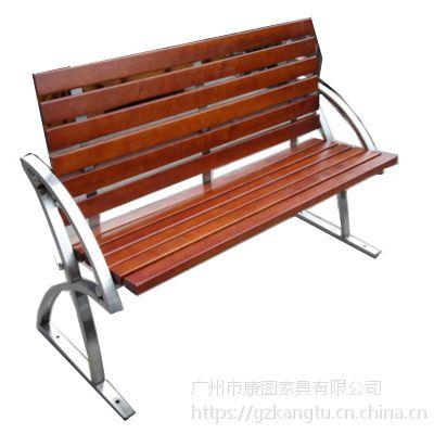 广场工公长椅不锈钢 特色户外椅 不锈钢座椅厂家