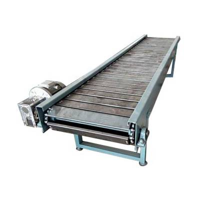 颗粒饲料板链输送机耐用 倾斜式链板输送机分类制造厂家