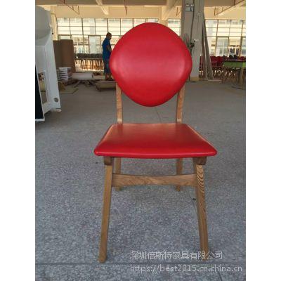 倍斯特简约现代实木软包椅创意中餐快餐甜品屋厂家定制