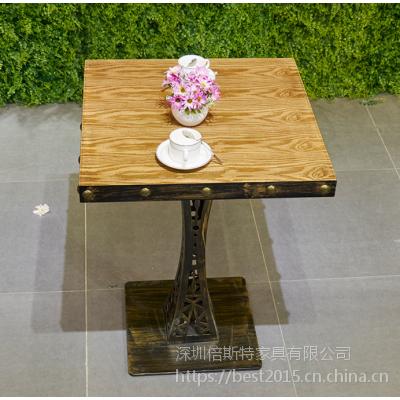倍斯特简约现代板式餐桌创意中餐湘菜休闲奶茶厂家定制