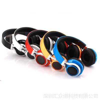 D510头戴式无线蓝牙耳机插卡led发光蓝牙耳机可折叠立体声热销