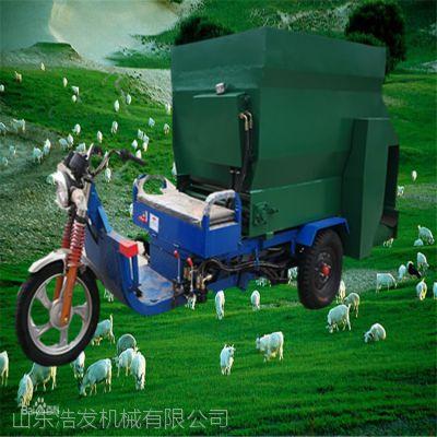 加工订制电动喂羊撒料车 各种草料投放喂牛车