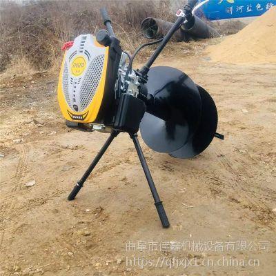 小型便携式挖坑机 多用途汽油钻眼机 佳鑫轻便手提式打孔机