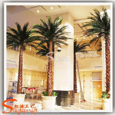 沈阳仿真棕榈树厂家玻璃钢仿真树老人葵酒店装饰大树蒲葵树