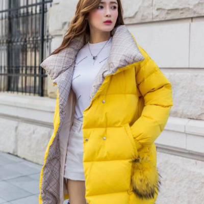 【BINBIN滨滨羽绒】2019冬季简约时尚不挑人品牌折扣女装走份批发