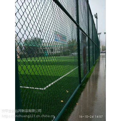 现货供应镀锌丝浸塑体育场围栏 运动场围栏
