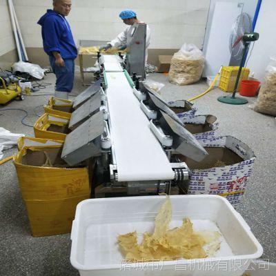 山东广昌四级皮带式鱼片分选机 动态检重分级机