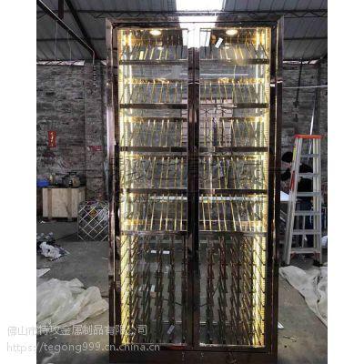 特攻不锈钢常温酒柜厂家|不锈钢展示架定制|酒吧欧式红酒柜酒架