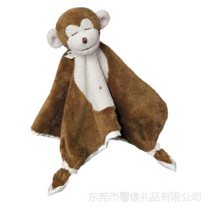 欢迎来图来样定制口水巾礼品婴儿安抚小兔子 宝宝婴儿安抚巾