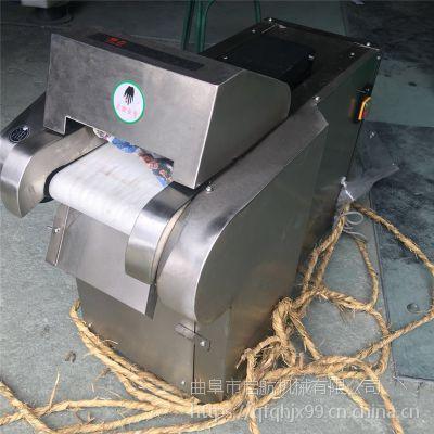 不锈钢型年糕切片机 可调蒲公英叶切段机 启航桑叶切片机