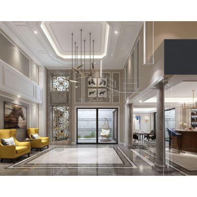 渝北金开融府装修|重庆渝北融创联排设计方案,300平美式别墅装修图