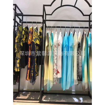 广州紫馨源服饰品牌女装真丝连衣裙折扣店进货渠道货源