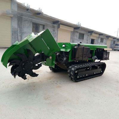 农用撒土杂肥机 润华 各种果树施肥机 全自动履带旋耕锄草机