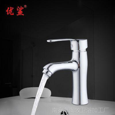 卫浴洁具  罗马单孔冷热混水面盆龙头 水暖五金浴室台盆铜水咀批