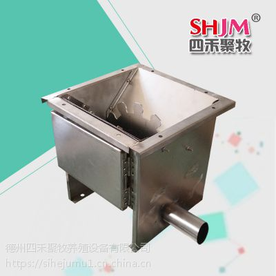 养猪料线自动供料系统 自动饲喂料线 养猪料线输出料斗