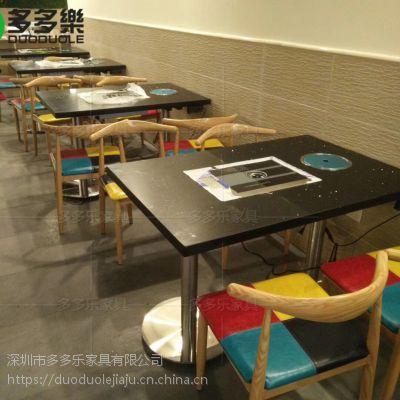 深圳餐厅开业订制火锅餐桌 烤肉餐桌 多多乐供应田园餐厅家具 来图订制