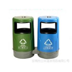 LF-A012二分类塑胶果皮双桶 供应户外垃圾箱 分类塑胶垃圾桶 户外果皮箱款式立丰应有尽有