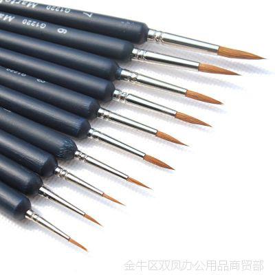 比尔勾线笔水粉画笔狼毫毛笔手绘油画画笔水彩画美甲描线勾边笔