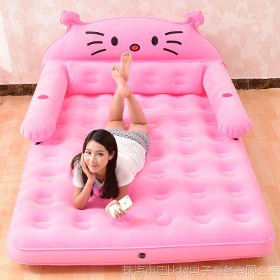 充气气垫床双人家用气垫沙发懒人床卡通可爱龙猫床折叠单人充气床