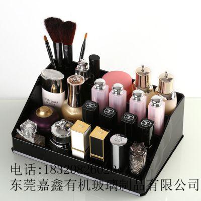 经典黑色亚克力化妆品收纳盒桌面指甲油收纳架