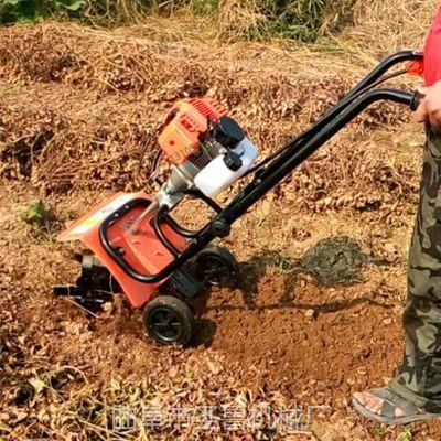 小型手推旋耕机 圣鲁汽油松土机 果园除草机
