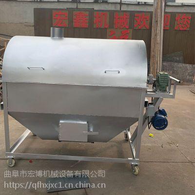 电加热黄豆炒货机 300斤花生芝麻炒炉 200斤电加热炒货机