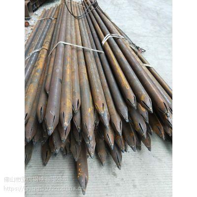 钢花管出尖打孔车丝梅花孔 108管棚管 42超前小导管 89钢花管