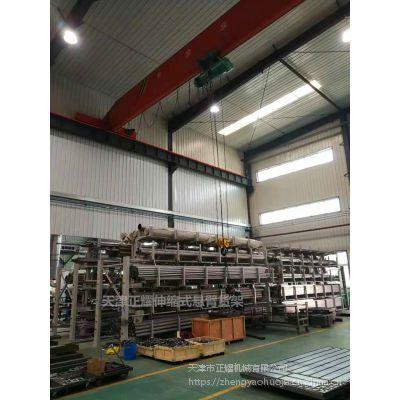 厦门钢材存储货架 伸缩悬臂货架结构 行车配套