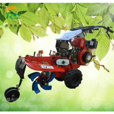 柴油机带动除草开沟机 大葱培土封沟机 手推自走式起垄机