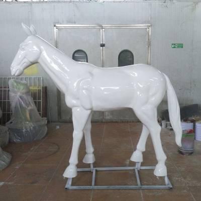 地产楼盘售楼部广场景观雕塑 玻璃钢仿古铜战马 飞马雕塑摆件艺宇厂家定制