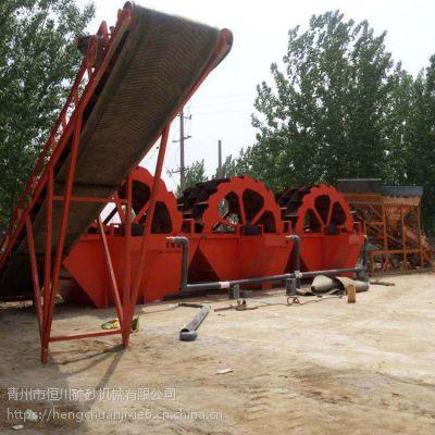 节能泥土洗沙机 轮式筛沙水洗装置