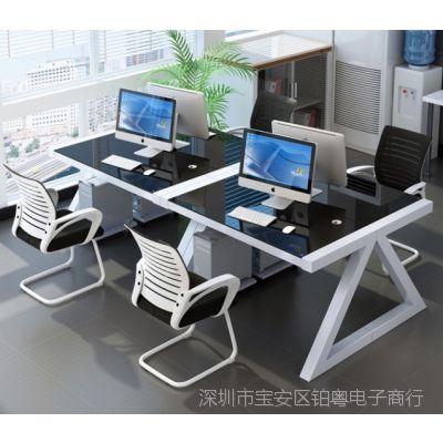 台式家用钢化玻璃卧室组装省空间简易电脑桌简约写字书桌经济型