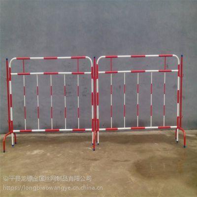 建筑基坑防护栏 黄色隔离栏定制 地铁建设警示栏杆