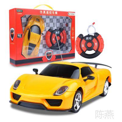 批发儿童玩具 1:24 方向盘二通遥控车 车模型