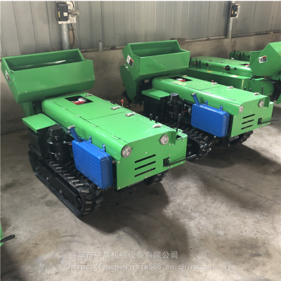 五种功能履带施肥机 自动转向开沟翻地机 果园35马力柴油耕地机视频