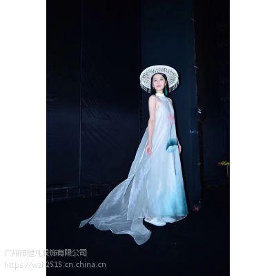 库存大码重工刺绣中国风连衣裙进货渠道 品牌时尚女装尾货走份一手货源