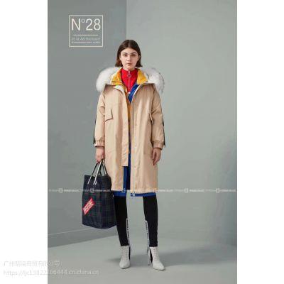 广州女装品牌折扣N°28羽绒服批发走份