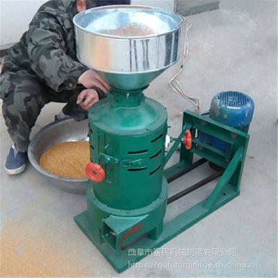 两相电去壳磨米机 小型粮食磨米机 富民牌
